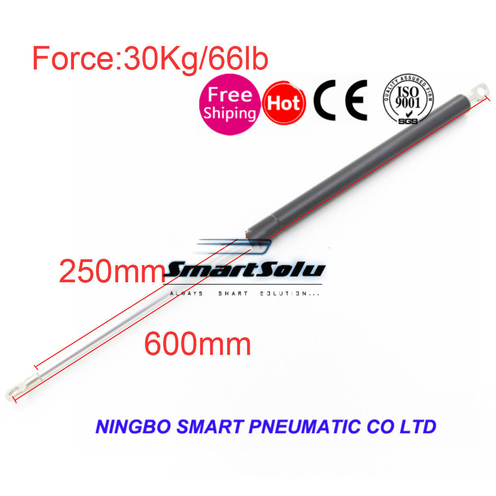 free shipping Gas Springs 600mm Central Distance M8 30KG/66lb Force 250mm Stroke Auto Gas Spring Damper Gas Spring Lift 600*250
