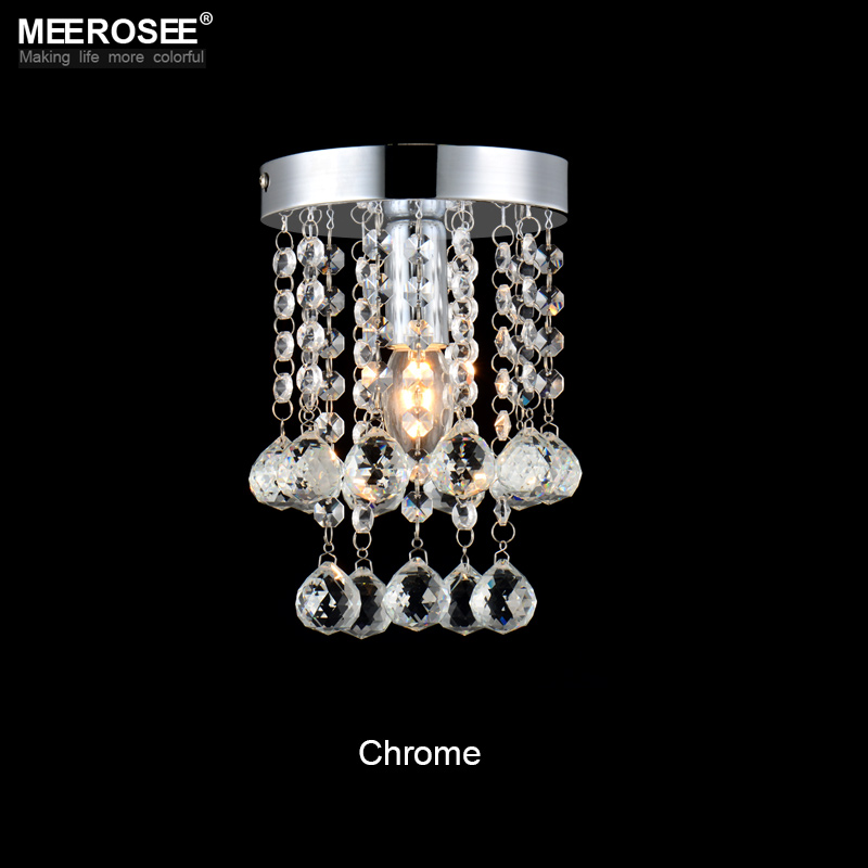 Luxury crystal chandelier lighting meerosee lighting Chrome lustre fixtures free shipping MD3038 D150mm H230mm