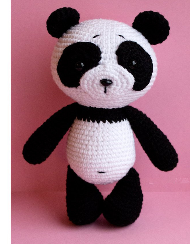 Crochet Toys  Amigurumi  Panda   Model  Number  W4128
