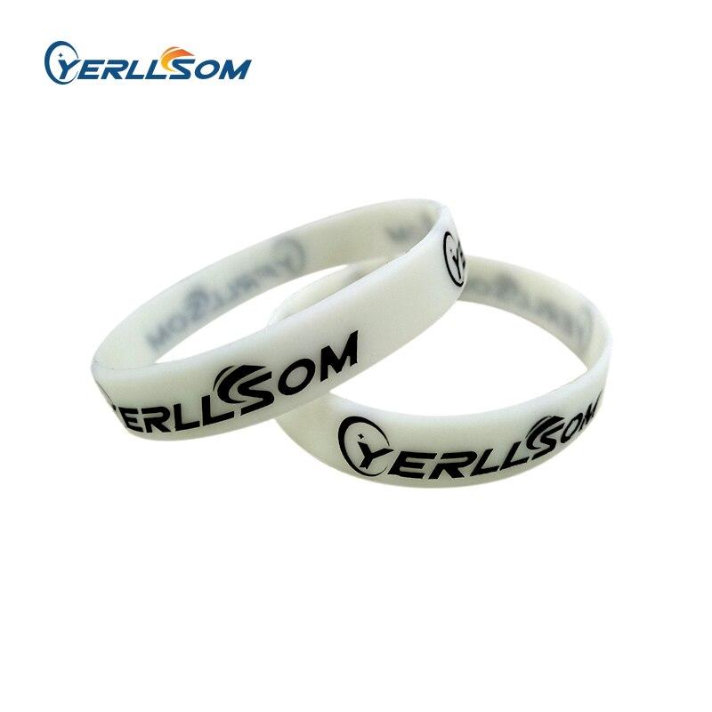 YERLLSOM 500 ชิ้น/ล็อตคุณภาพสูงที่กำหนดเองส่วนบุคคลนูนและพิมพ์ยางซิลิโคนสำหรับกิจกรรม Y101004-ใน กำไล จาก อัญมณีและเครื่องประดับ บน   1