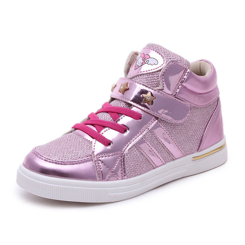 2017 Spring Autumn Girls Casual Shoes 3 Colors High Solid Fashion Children Shoes Toddlers Teen Sneakers For Girls high quality children sneakers 2016 spring