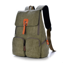 2016 Eminent Men Male Canvas Backpack Korean School Backpack Bags For Teenagers Vintage Casual Rucksack For Street