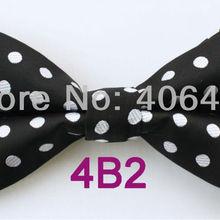 YIBEI coahella галстуки черный с белым Горошек Бабочка двухцветные регулируемые взрослые галстуки-бабочки модный галстук-бабочка для смокинга предварительно завязывается