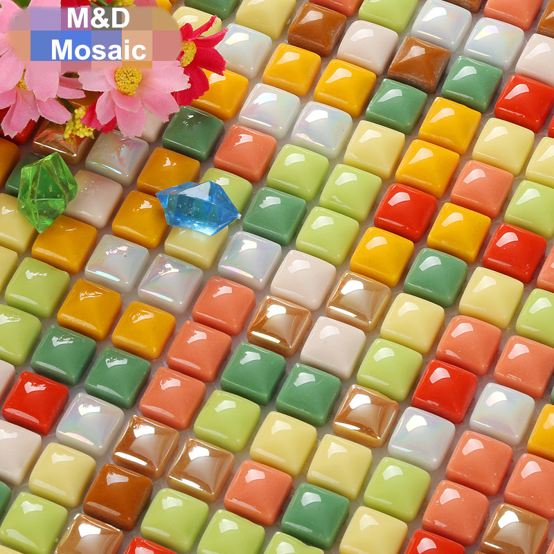 Iridescent Glazed Small Glass mosaic tile Kitchen backsplash bathroom  living room home showroom bar wall floor - Popular Iridescent Tile Backsplash-Buy Cheap Iridescent Tile