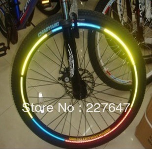 Reflective stickers tires  mountain bike sticker circle sticker die flying bicycle stickers wholesale