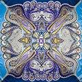 100% Silk Scarf Women Scarf Paisley Neckerchief Scarf Silk Bandana 2017 Hot Foulard Print Small Square Silk Scarf Gift for Lady