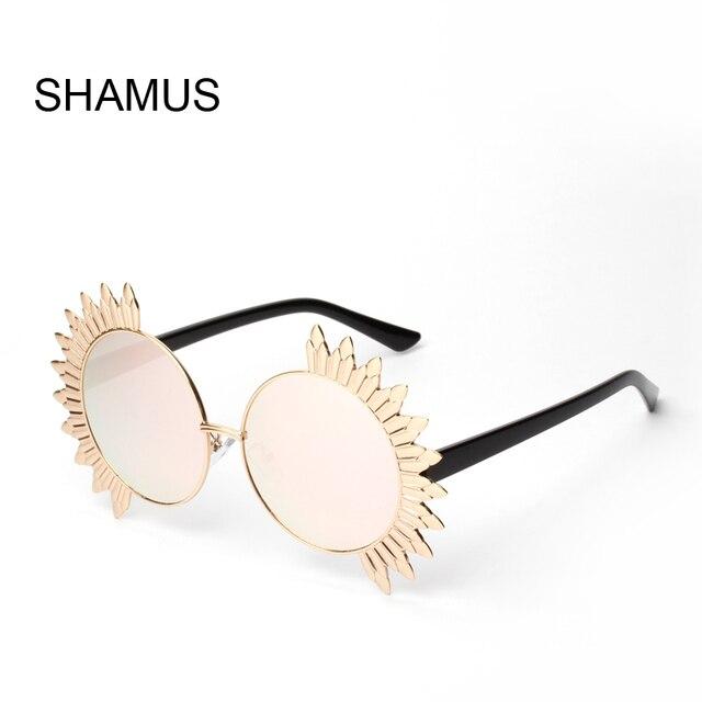 Shamus De Lunettes Tournesol Ronde Soleil Super Mode Or Cadre Cxshrtqd rhQstd