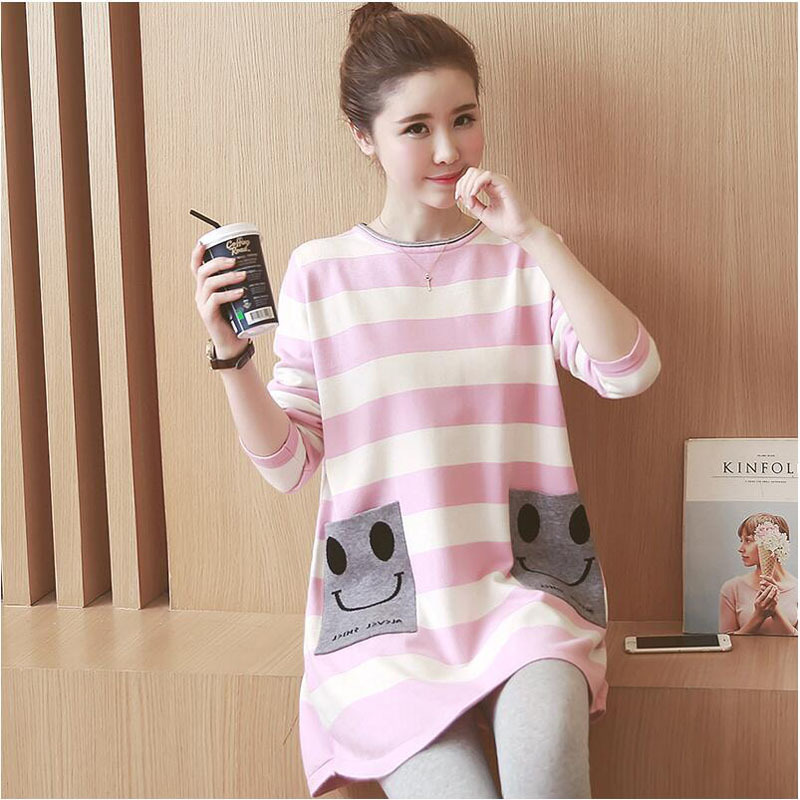 Autumn and spring Pregnant Women Sweater New Maternity Dress Primer Sweater Skirt Long Sleeved Large Size Pregnant Women Dress
