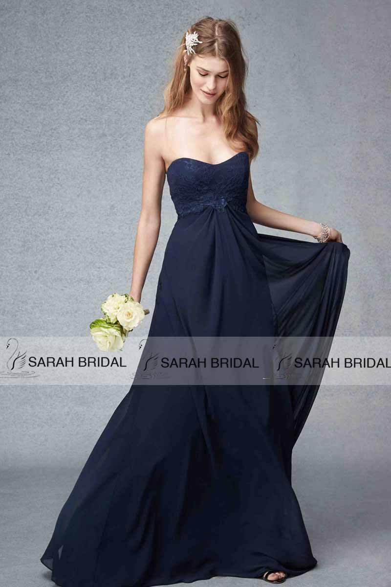 Navy blue long maternity bridesmaid dresses sweetheart lace teens navy blue long maternity bridesmaid dresses sweetheart lace teens chiffon wedding party dresses vestidos de madrinha bd033 in bridesmaid dresses from ombrellifo Image collections