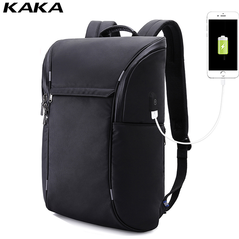 KAKA men s laptop backpack USB charging notebook bags travel pack sports bag pack anti theft
