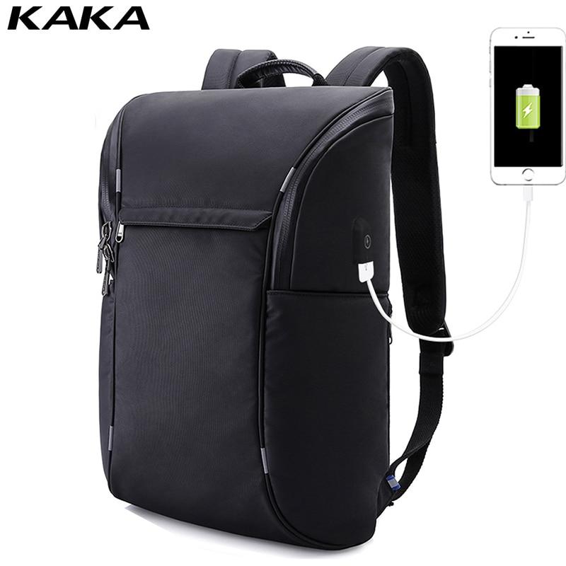 KAKA männer laptop rucksack USB lade notebook taschen travel pack sporttasche pack anti theft rucksäcke business für männliche 2019-in Rucksäcke aus Gepäck & Taschen bei  Gruppe 1