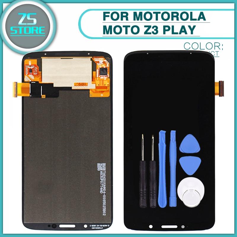 Nouveau Z3 Jouer LCD Écran Tactile Pour Motorola Moto Z3 Jouer LCD Panneau D'affichage Tactile Digitizer Capteur Verre Lentille avec outil