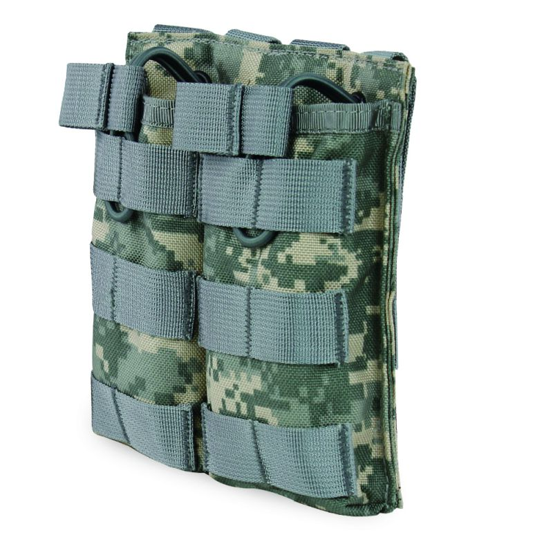 Just Outdoors Tactical Molle Double Open Top Mag Pouch Magazine Pouch Airsoft Military Paintball Gear M4/m16