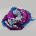 Стиль новинка осень и зима хлопок дамы пашмина цветочные шарф квадрат шарфы тонкий белый синий фиолетовый глушитель