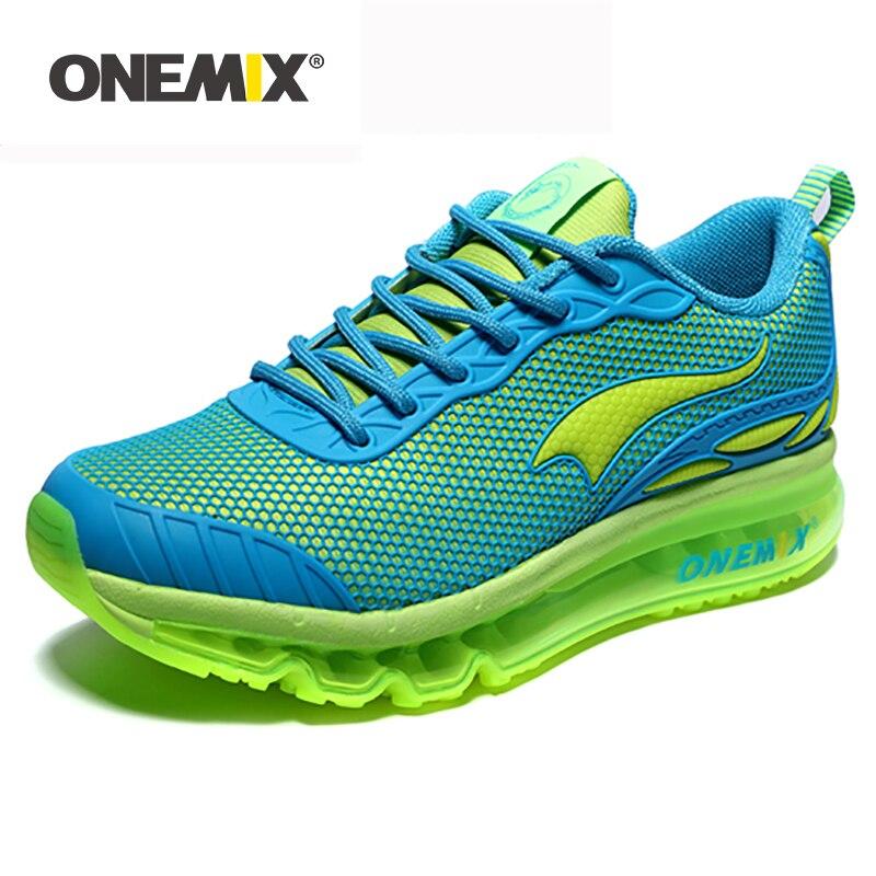 ONEMIX femme chaussures de course pour femmes belles baskets athlétiques bleu Zapatillas Sport chaussure coussin chaussures d'extérieur chaussures de marche