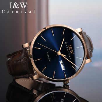 ICH & W 2018 Original Herren Mechanische Uhren Karneval Japan Bewegung Automatische Watche Männer Ultra-Dünne 10mm Herren uhr re