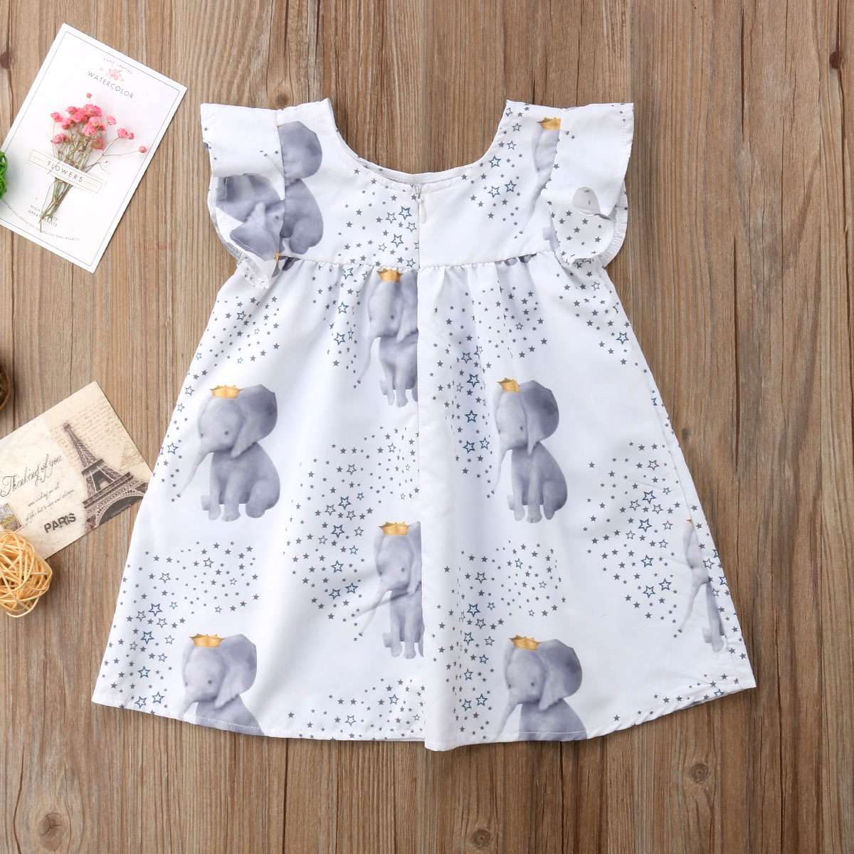 505f62dfa83cb Aliexpress.com : Buy Toddler kid Baby Girls Summer Dress Star Elephant Print  Princess Party Dress Clothes Sundress Children Clothing from Reliable  Dresses ...
