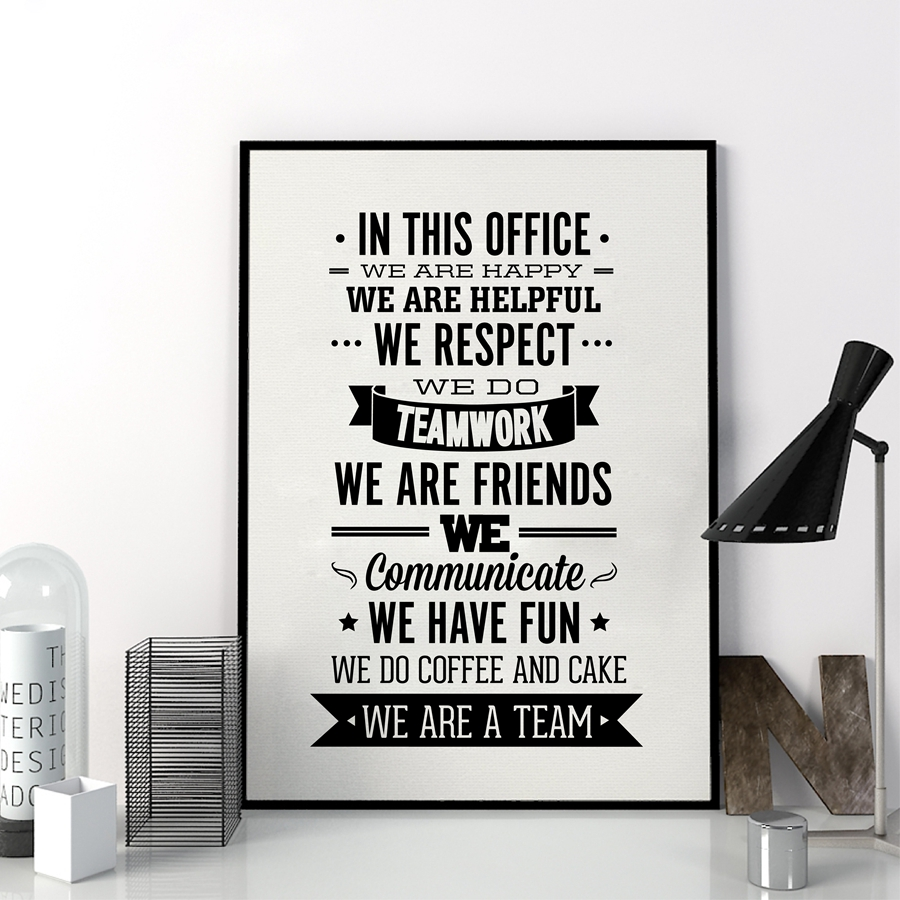 Team Office Rules Quote Canvas Painting Wall Art , Team Inspiring Quote  Canvas Prints Office Poster Art Decor In Painting U0026 Calligraphy From Home U0026  Garden ...