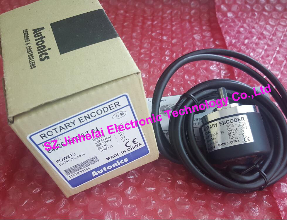 New and original  E40S6-300-3-T-24  AUTONICS  Incremental rotary encoder  12-24VDC 100% new and original e50s8 360 3 n 24 e50s8 60 3 t 24 autonics incremental rotary encoder