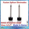 Frete Grátis 1 pair para Eletrodos IFS-10/5/15/16 de Visão 3/5/7 Fusão Splicer Made in Korea