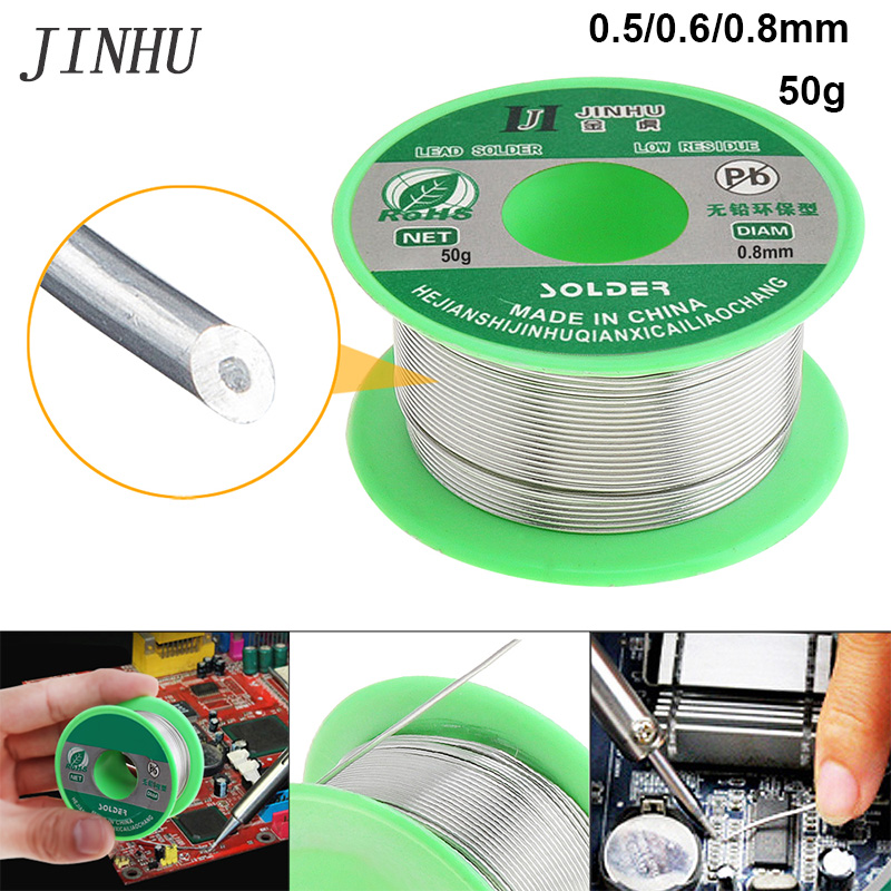 Solder Wire 0.5/0.6/0.8mm 50g Welding Wire 99.7% Sn 0.3% Cu Rosin Core Soldering Solder With Flux Lead Free For Soldering