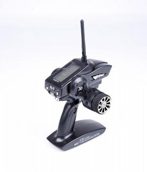 WFLY X4 2.4G 4CH Transmitter Gun Control WFX4 Cost-effective Remote Travel With WFR04H Receiver For RC Car And Boat image