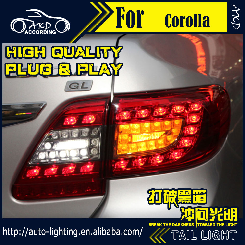 Car styling tail lamp for toyota corolla led tail light 2011 2013 altis led rear