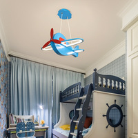 Modern led Chandelier For Children's room boy aircraft light personality creative cartoon girl LED bedroom Chandeliers Fixtures