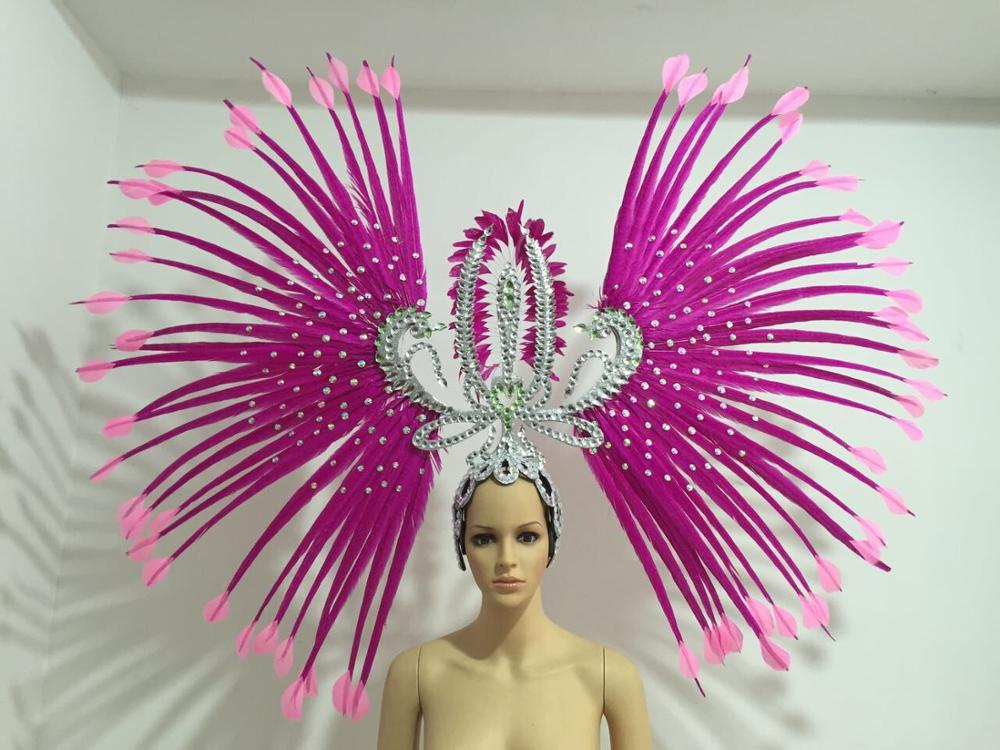 Image 5 - Latin dance Samba accessories Fashion exquisite headdress feathers Delicate dance shows accessories Samba clothing-in Women's Hair Accessories from Apparel Accessories