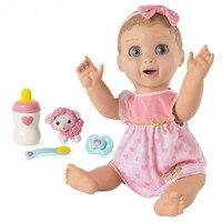 Оригинальный Luvabella куклы светлые волосы интерактивные Reborn куклы младенца с выражения движение девушка игрушки для детей Y21