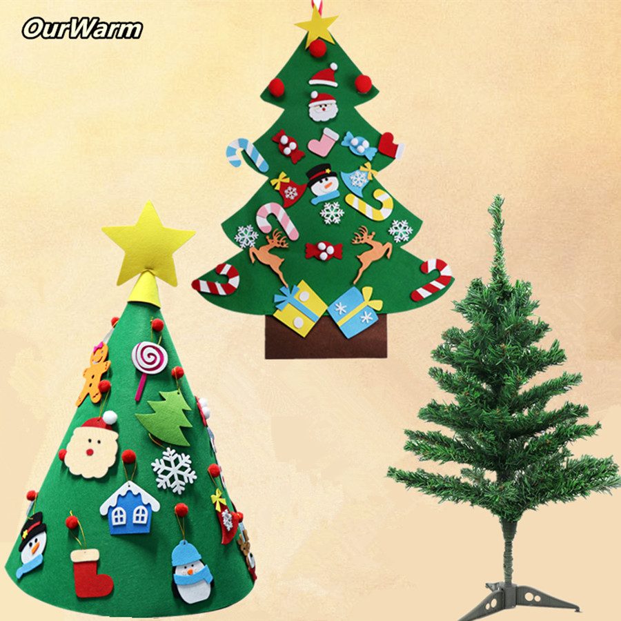 e97f92dc147c OurWarm DIY Craft Felt Christmas Tree Advent Calendar Baby Children Gift  Christmas Tree Hanging Ornament Decoration