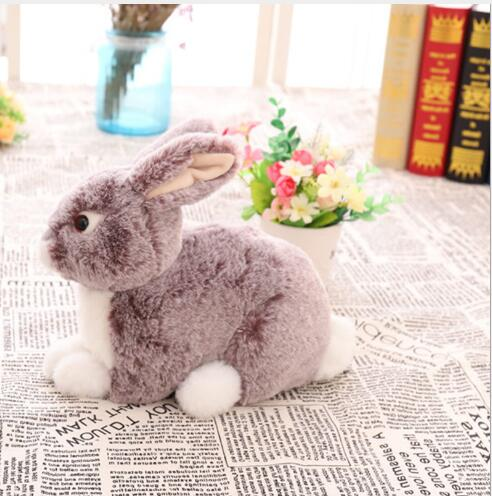 WYZHY Cute simulation plush toy rabbit pig like ornaments model animal to send girlfriend Valentine 39 s Day birthday gift 30CM in Stuffed amp Plush Animals from Toys amp Hobbies