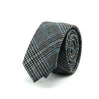 New Mens Suits Wool Necktie Ties Formal Business Brand Tie Skinny Cotton Neck Tie Plaid Printed