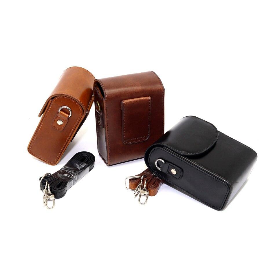 Shock proof Strap Shoulder bags Camera case For Olympus SH-2 Samsung NX mini WB800F WB850F WB35F PU Leather cover