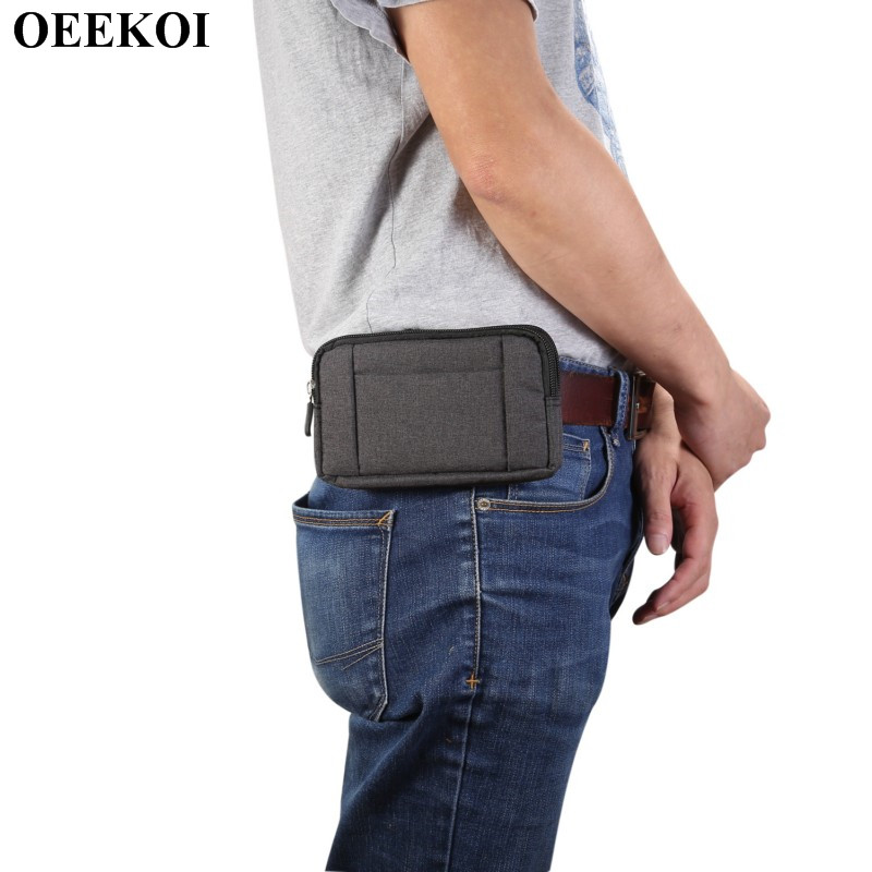 Sincere Oeekoi Universal Denim Belt Clip Sport Pouch Case For Wiko Upulse/u Feel Fab/robby/fever Special Edition/s-kool/pulp Fab 4g