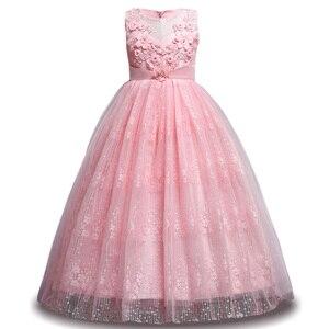 Image 4 - Kızlar yaz 7 8 9 10 11 12 yıl düğün çiçek kız elbise kızlar için prenses elbise çocuklar parti elbiseler çocuk kostüm giysi