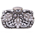 Crystal Beaded Diamond Evening bag, Three-dimensional Party bag purse handbag clutches bags Bridal Pouch Hard Case