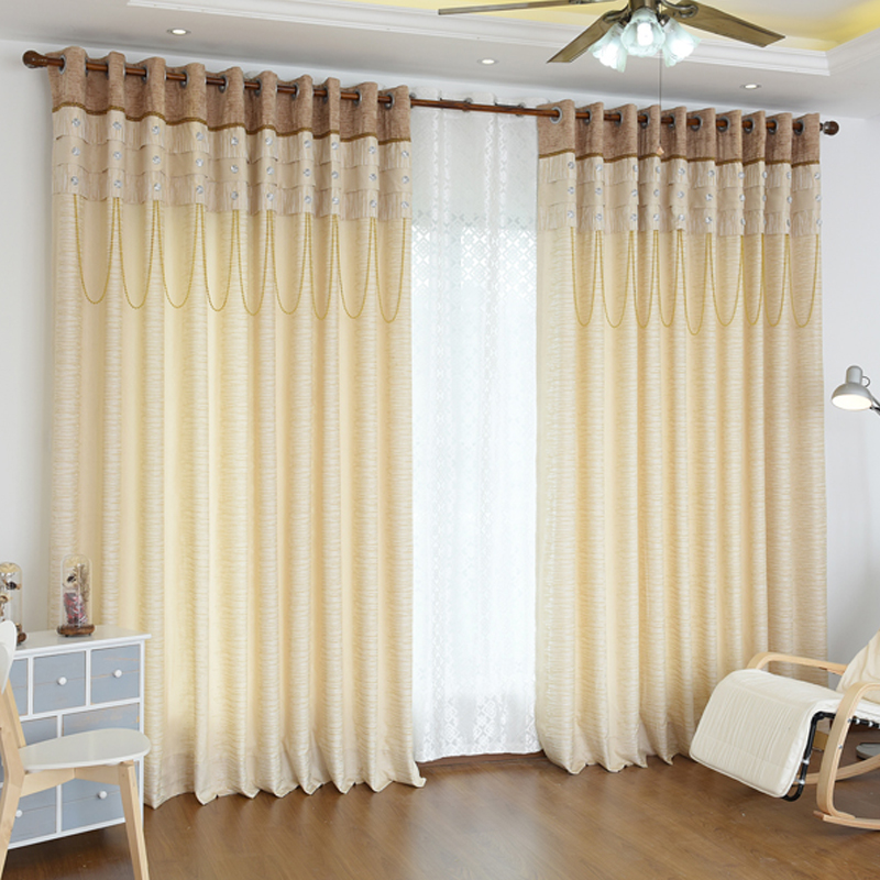 2016 Living Dinging Bedroom Room Currtain Luxury Villa Yarn Customized Mosaic Fashion Style Modern Curtains For Fabric In From Home Garden
