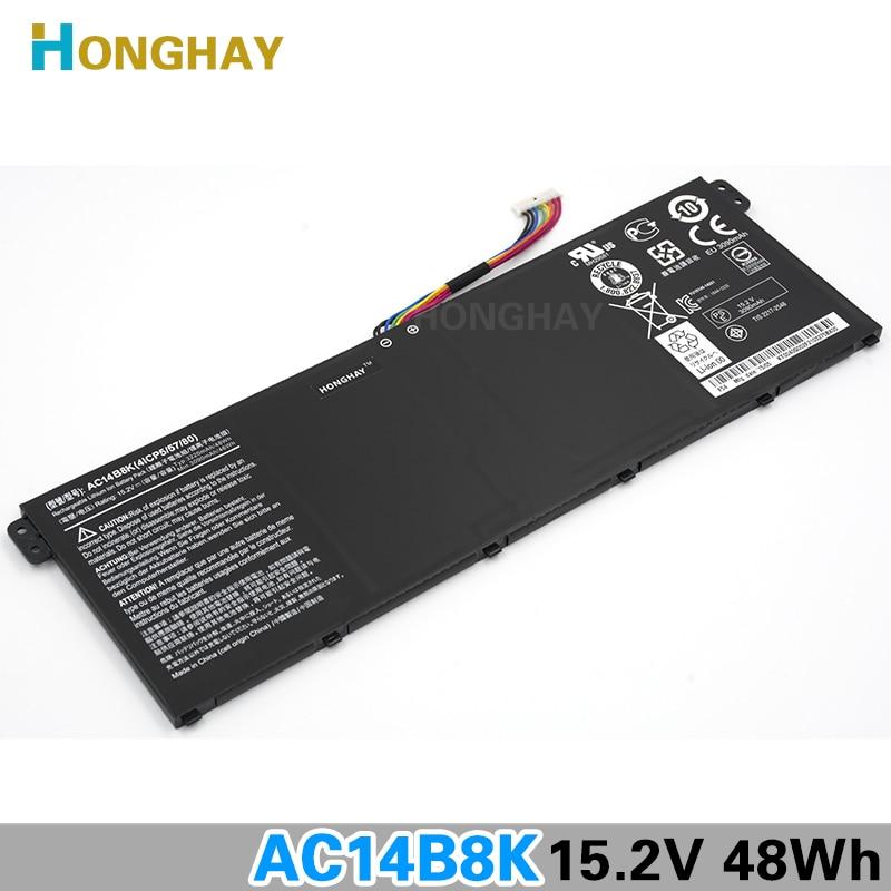 Honghay AC14B8K Laptop Battery for ACER Aspire V3-111P CB3-111 CB5-311 B115P NE512 V3-371 V3-111 ES1-711 4ICP5/57/80 Chromebook new original 15 2v 46wh 48wh laptop battery for acer aspire v3 v3 371 v3 371 30fa ac14b8k