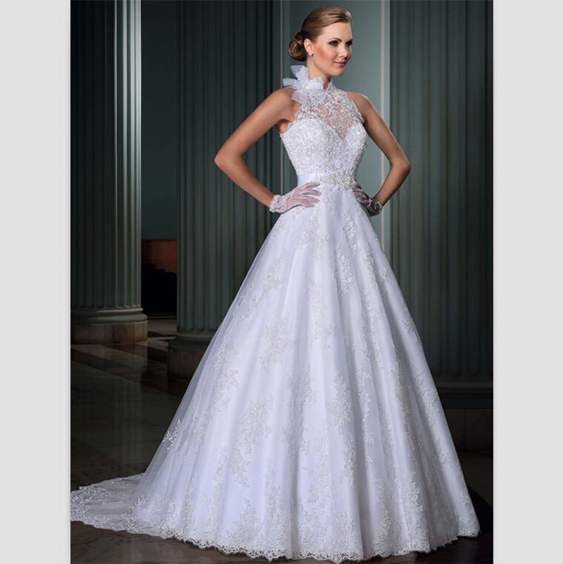 Hot Sale Vintage Wedding Dresses 2015 White Lace Dresses