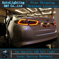 Auto Lighting Style LED Tail Lamp for Kia K5 led taillight assembly 2014 2015 Optima rear trunk lamp cover drl