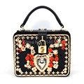 Luxury fashion design for high-quality color diamond suede PU women's handbag lock box shoulder bag flap messenger bag