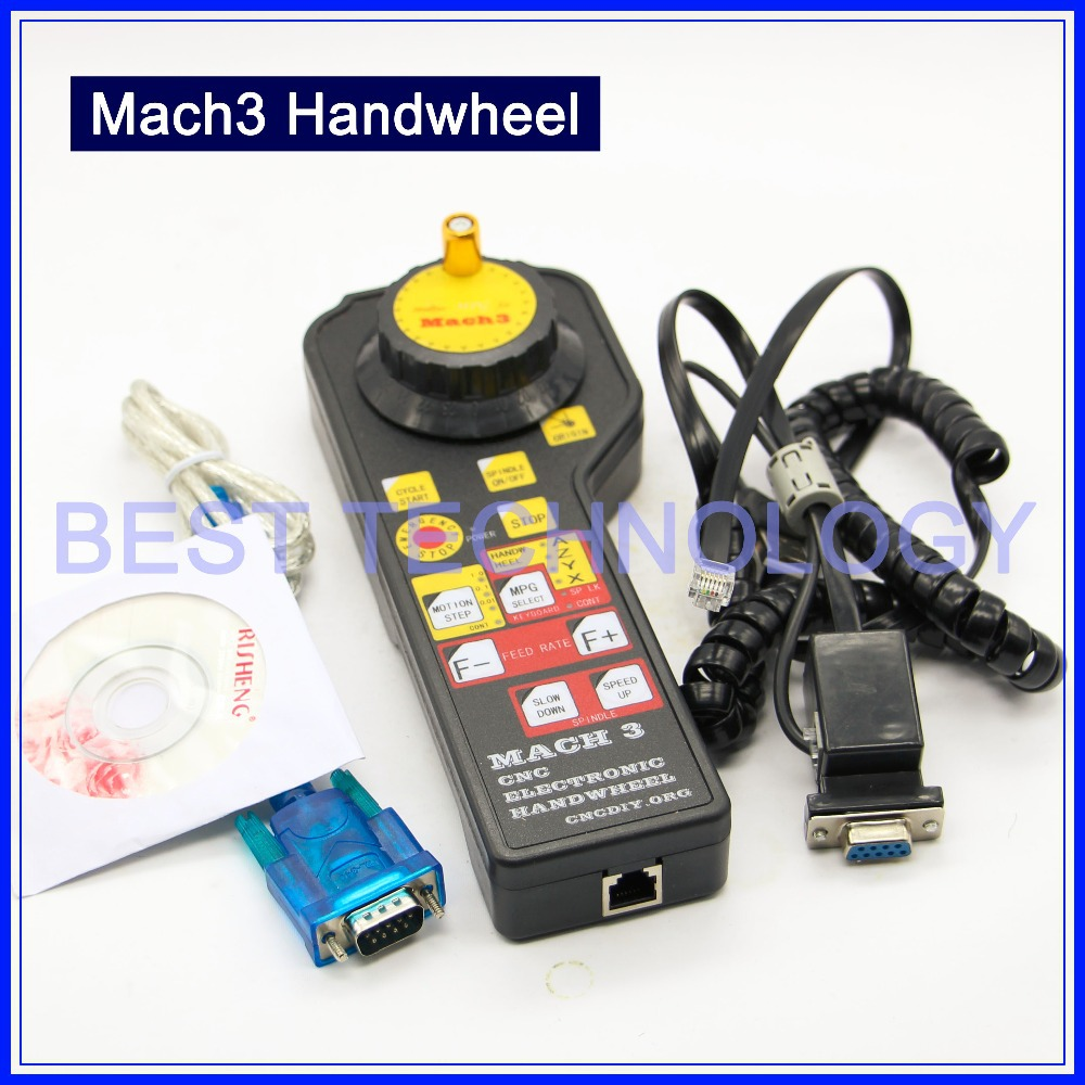MACH3 CNC USB Electronic Handwheel Manual Controller MODBUS MPG CNC Engraving machine Fittings interface board Pulse generator handy pulser mpg handwheel 4 axis 100ppr 5v 15v manual pulse generator use for fanuc fagor cnc system with cable
