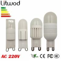 Litwod Z90 ceramic body 5W 3W led bulb G9 LED lamp AC 220V epistar Ultra bright led white / Warm white led light