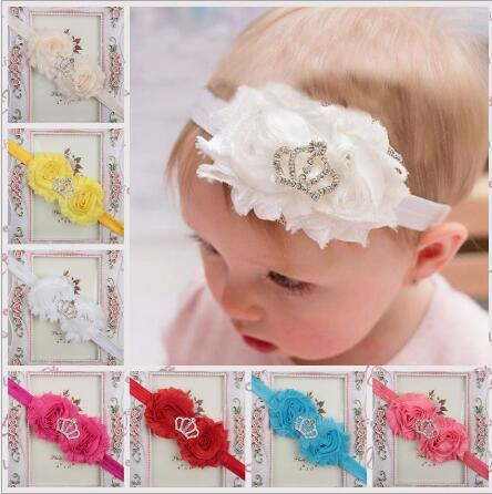 ON SALE 1PCS Free Shipping 2017 New Sunflower Crown Girls Headbands Elastic Newborn Hair Bands Baby Girls Crowns