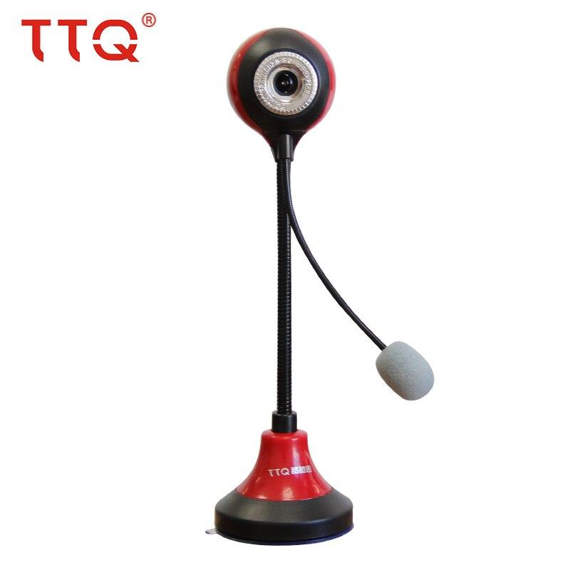 TTQ HD USB Webcam pour ordinateur vision nocturne Web caméra pour ordinateur de bureau ordinateur portable Skype MSN intégré Mic logitech webcam USB hd 360