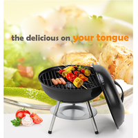 Korean 14 inch Mini Grill Barbecue Portable Charcoal Stove For Tabletop Camping Charcoal Smokehouse Folding Burners With Plate