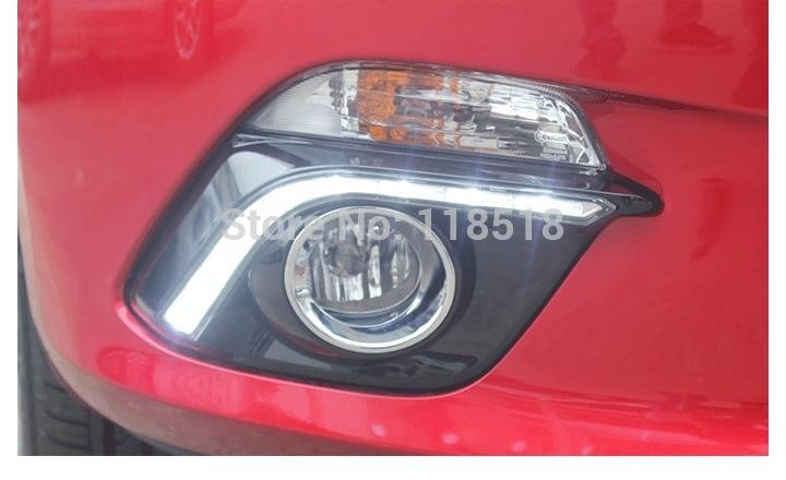 free shipping for Mazda 3 axela 2014 led drl daytime running font b light b font