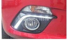 Envío gratis, para Mazda 3 axela 2014 led drl luces diurnas con auto off función