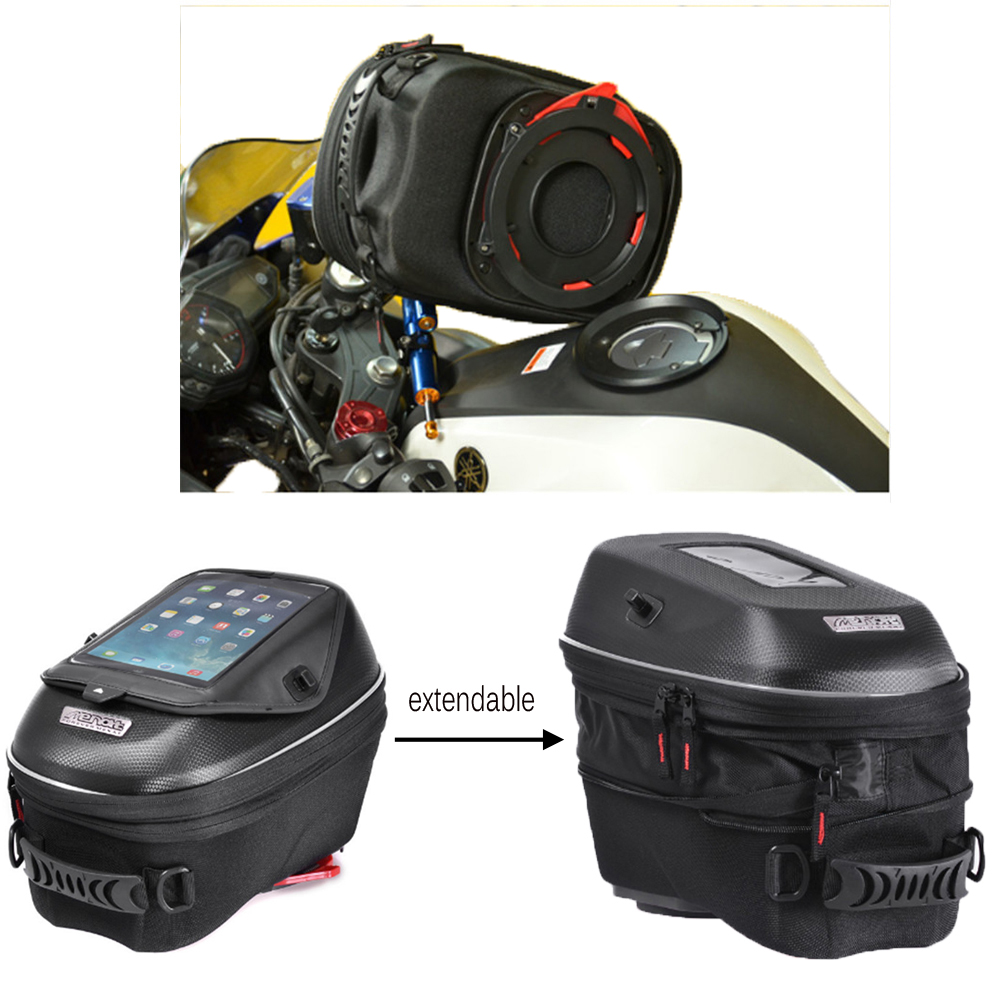 Motorcycle Expandable Magnet and Mechanical Ring Fix Tank Bag Racing Backpack for Benelli BN600/Tre 899 K/Tre 1130 K